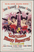 """Movie Posters:Musical, Gentlemen Marry Brunettes (United Artists, 1955). One Sheet (27"""" X 41""""). Musical.. ..."""