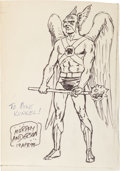 Original Comic Art:Sketches, Murphy Anderson - Hawkman Sketch Original Art (1998)....