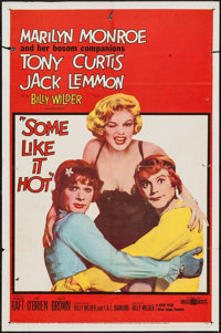 """Some Like It Hot (United Artists, 1959). One Sheet (27"""" X 41""""). Comedy"""