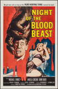 "Movie Posters:Horror, Night of the Blood Beast (American International, 1958). One Sheet (27"" X 41""). Horror.. ..."
