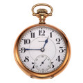 Timepieces:Pocket (post 1900), E. Howard Watch Co. Series 5, 19 Jewel Railroad Watch. ...
