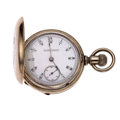Timepieces:Pocket (pre 1900) , Illinois Transitional 18 Size With Locomotive On Movement PocketWatch. ...