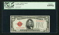 Small Size:Legal Tender Notes, Fr. 1531* $5 1928F Wide I Legal Tender Star Note. PCGS Choice New 63PPQ.. ...
