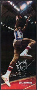 Basketball Collectibles:Others, 1979 Julius Dr. J Erving Original Converse Poster - Near Life Sized. ...
