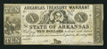 Obsoletes By State:Arkansas, Little Rock, AR- State of Arkansas $10 Jan. 29(?), 1862 Cr. 54. ...
