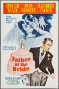 """Movie Posters:Comedy, Father of the Bride & Other Lot (MGM, R-1962). One Sheet (27"""" X 41"""") & Insert (14"""" X 36""""). Comedy.. ... (Total: 2 Items)"""