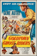 "Movie Posters:Western, Goldtown Ghost Riders (Columbia, 1952). One Sheet (27"" X 41""). Western.. ..."
