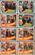 """Movie Posters:Western, Law of the Badlands & Others Lot (RKO, 1951). Lobby Cards (10)(11"""" X 14""""). Western.. ... (Total: 10 Items)"""