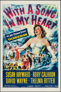 """With a Song in My Heart (20th Century Fox, 1952). One Sheet (27"""" X 41""""). Musical"""