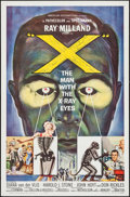 """Movie Posters:Science Fiction, X - The Man with the X-Ray Eyes (American International, 1963). OneSheet (27"""" X 41"""") & Lobby Card (11"""" X 14""""). Science Fict...(Total: 2 Items)"""