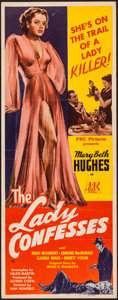 "Movie Posters:Crime, The Lady Confesses (PRC, 1945). Insert (14"" X 36""). Crime.. ..."