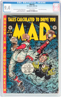 Golden Age (1938-1955):Humor, MAD #2 (EC, 1952) CGC NM 9.4 Off-white to white pages....