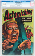 Golden Age (1938-1955):Horror, Astonishing #34 (Atlas, 1954) CGC VG/FN 5.0 Cream to off-whitepages....