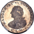 India:British India, India: British India. Major General Claude Martin - East India Company silver Token ND (1797) MS64 NGC,...