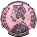 India:British India, India: British India. Victoria Proof 1/12 Anna 1862-(C) PR64 Red and Brown NGC,...
