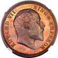 India:British India, India: British India. Edward VII Proof 1/4 Anna 1904-(C) PR65 Red and Brown NGC,...