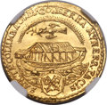 German States: Regensburg. Free City gold Ducat 1649 MS64 ★ NGC