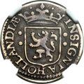 Netherlands East Indies: Dutch Colony - United Amsterdam Company 1/2 Real ND (1601) VG10 NGC