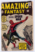 Silver Age (1956-1969):Superhero, Amazing Fantasy #15 (Marvel, 1962) Condition: PR....