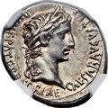 Ancients:Roman Imperial, Ancients: Augustus (27 BC-AD 14). AR denarius (19mm, 3.79 gm, 12h). ...