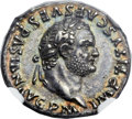 Ancients:Roman Imperial, Ancients: Titus (AD 79-81). AR denarius (19mm, 3.60 gm, 1h)....