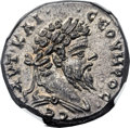 Ancients:Roman Provincial , Ancients: SYRIA. Laodicea ad Mare. Septimius Severus (AD 193-211).AR tetradrachm (26mm, 15.46 gm, 1h)....