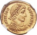 Ancients:Roman Imperial, Ancients: Theodosius I the Great (AD 379-395). AV solidus (22mm, 4.45 gm, 12h)....