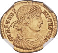 Ancients:Roman Imperial, Ancients: Constans (AD 337-350). AV solidus (21mm, 4.41 gm, 6h). ...