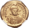 Ancients:Byzantine, Ancients: Anastasius I (AD 491-518). AV solidus (21mm, 4.42 gm,7h)....
