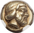 Ancients:Greek, Ancients: LESBOS. Mytilene. Ca. 454-427 BC. EL sixth stater orhecte (10mm, 2.53 gm, 3h)....