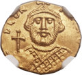 Ancients:Byzantine, Ancients: Leontius (AD 695-698). AV tremissis (15mm, 1.40 gm,6h). ...