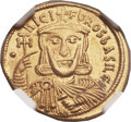 Ancients:Byzantine, Ancients: Nicephorus I (AD 802-811), with Stauracius (AD 803-811). AV solidus (22mm, 4.46 gm, 6h)....