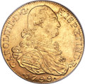 Colombia, Colombia: Charles IV gold 8 Escudos 1799 NR-JJ MS62 PCGS,...