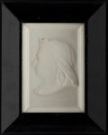 Books:Furniture & Accessories, Framed ceramic bas-relief profile of Queen Victoria, 1897.. ...