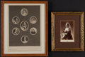 Books:Prints & Leaves, Collage of mezzotint etchings of Queen Victoria from the age of 8until her accession by an unknown artist (together with) a c...(Total: 2 Items)