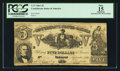Confederate Notes:1861 Issues, T37 $5 1861.. ...