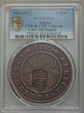 Angola, Angola: Portugese Colony Counterstamped 2 Macutas ND (1837) F12PCGS,...