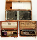 Books:Furniture & Accessories, [Quack Medical Devices]. Group of Three Late Nineteenth/EarlyTwentieth-Century Medical Devices. Various makers and dates....(Total: 3 Items)