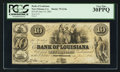 Obsoletes By State:Louisiana, New Orleans, LA - Bank of Louisiana $10 Jun. 14, 1862 G14a. ...