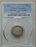 Early Dimes, 1796 10C JR-1, R.3 -- Scratch -- PCGS Genuine. VG Details....