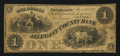 Obsoletes By State:Maryland, Cumberland, MD- Allegany County Bank $1 Jan. 1, 1861. ...