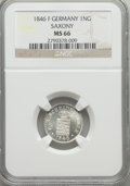 German States:Saxony, German States: Saxony. Friedrich August II Neu-Groschen 1846-F MS66 NGC,...