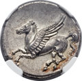 Ancients:Greek, Ancients: SICILY. Syracuse. Timoleon and the Third Democracy (344-317 BC). AR stater (22mm, 8.65 gm, 12h)....