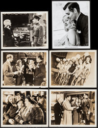 "Idiot's Delight (MGM, 1939/R-1974). Photos (5) & Reissue Portrait Photo (8"" X 10""). Comedy. ... (Total..."