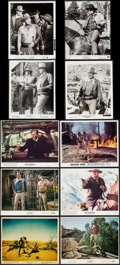 John Wayne in The Searchers & Others Lot (Warner Brothers, 1956). Color Photos (3), British Front of House Color...