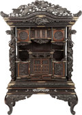 Asian:Japanese, A Japanese Meiji Period Hardwood Cabinet, circa 1890. 85 incheshigh x 56 inches wide x 24 inches deep (215.9 x 142.2 x 61.0...