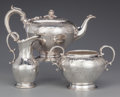 Silver Holloware, British:Holloware, A Three Piece Elkington Silver-Plated Tea Service, Birmingham,England, circa 1850-51. Marks: E & CO (in shield under a... (Total: 3 Items)