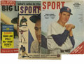 Baseball Collectibles:Publications, Vintage Baseball Magazines Lot of 3. The three vintage baseballmags featured here each contains the visage of one of the m...