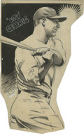 Baseball Collectibles:Others, Lou Gehrig Illustration Original Art. Marvelously rendered ink illustration depicts the great Lou Gehrig taking a swing. O...