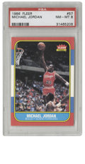 Basketball Cards:Singles (1980-Now), 1986 Fleer Basketball Michael Jordan #57 PSA NM-MT 8. In what is the most important modern card in basketball card history,...